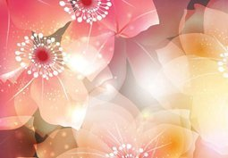 Card flower background
