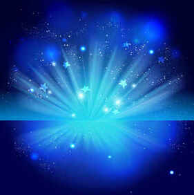 Sparkling Stars Blue Night Background