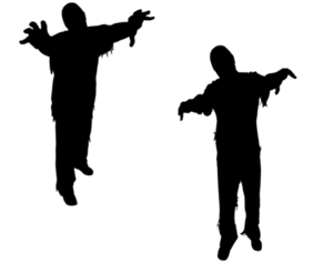 Vector Zombie Silhouettes