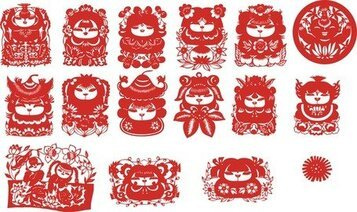 The Traditional Chinese Papercut Fuwa