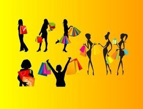 Shopping female silhouettes