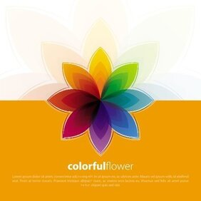 FLOR colorida VECTOR BACKGROUND.eps