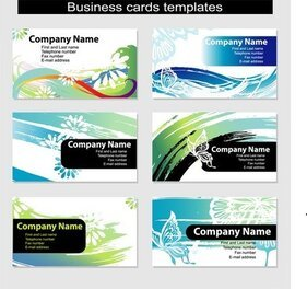 Dynamic Vector Colorful Cards
