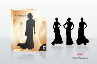 Fashion Girls Vector Silhouettes Free Pack