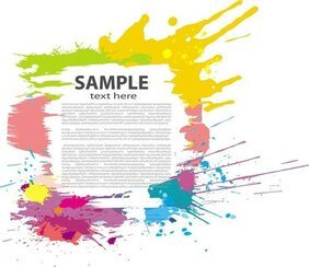 Color Ink Splash Poster
