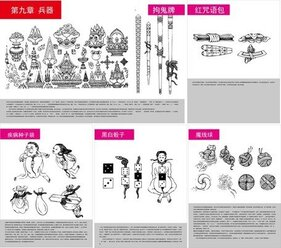 Tibetan Buddhist Symbols And Objects Figure Of Ten Five Auspicious Tienmu Artifact