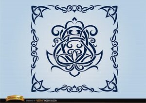 Celtic swirls ornamental frame