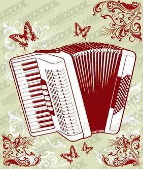 Accordion with the pattern