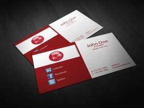 Abstract 2 Falten Corporate Business Card