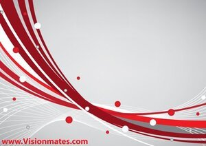 Red Lines Vector Card Design