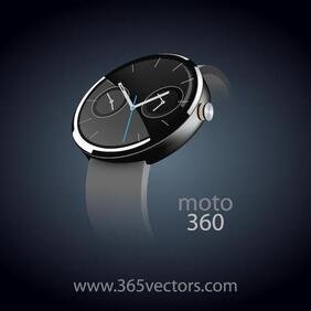WRIST WATCH vecteur GRAPHICS.eps