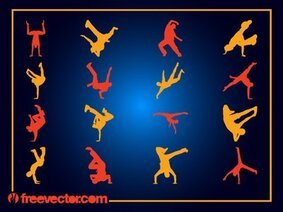 Boys Break Dancer Pack Silhouette