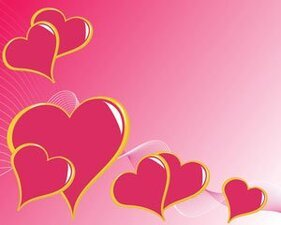 Vector abstract pink love1