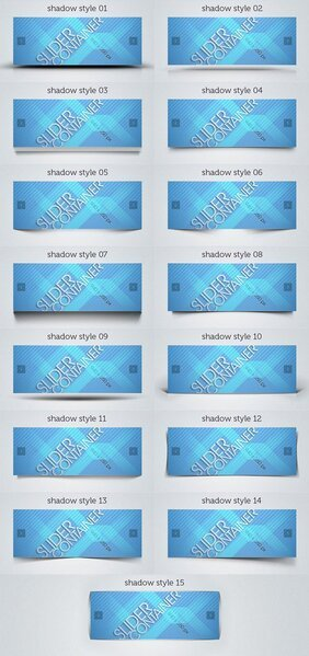 Web Slider Psd Shadows Pack
