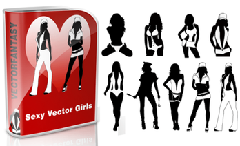 Sexy Girls Silhouettes Free Vector Pack