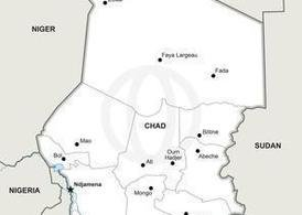 Free Vector Map of Chad