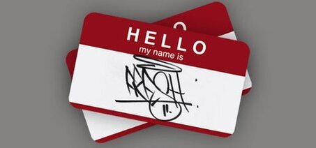 Business Card with Graffiti