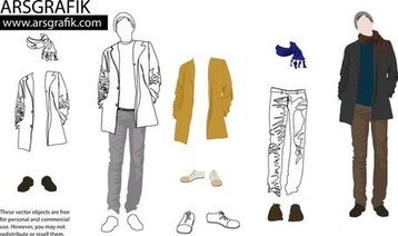 Men'S Fashion Vector Art