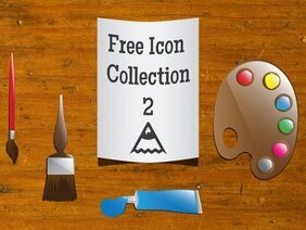 Free Artist Icons Vector Art