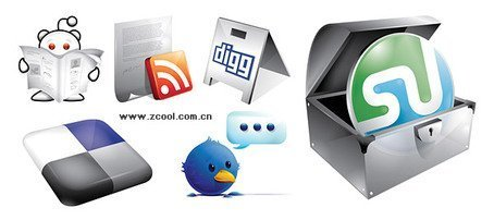 6 cool web2.0 site LOGO icon