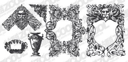 European carving ornate pattern elements in the amount of ma