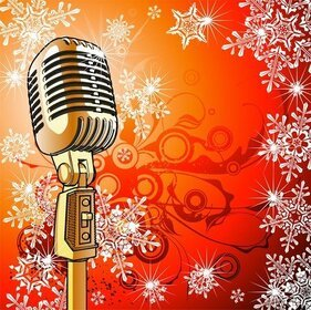 Microphone Vector Illustrator Design