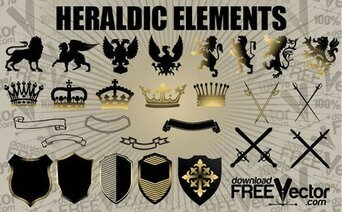 Free Vector Heraldic Elements