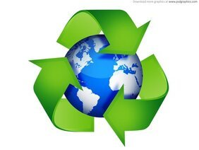 Green recycling symbols