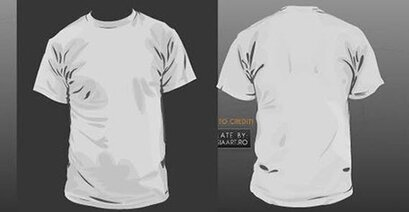 Front and back t-shirt template