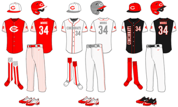 Honkbal uniforme sjabloon Vector gratis