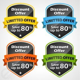 Colorful vector discount tags