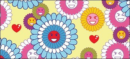Lovely flowers expression vector background material