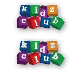 Kids Club Blocks Logo Vector Free