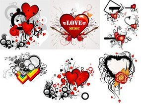 Valentine's Day heart-shaped theme of the trend vector illus