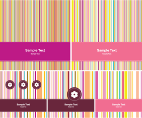 Vector Greeting Card Design with Colorful Stripe Background