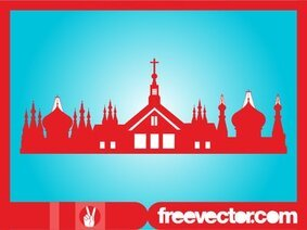 Orthodox Religion Buildings Silhouette