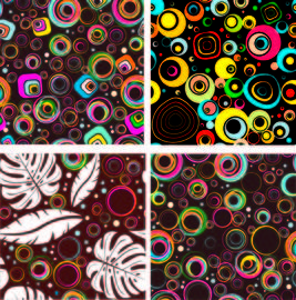 Colorful Seamless Circle Patterns