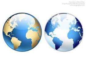 Photoshop world globe icon