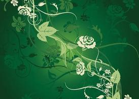 Green Flower Tile