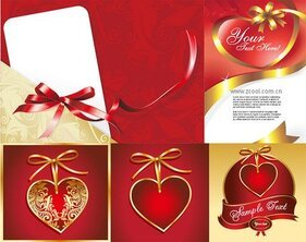 Ribbon and heart-shaped series of
