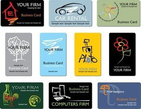 Refined Draft Design Business Cards Business Lines 01