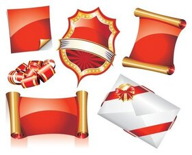 europeanstyle ribbon scroll icon