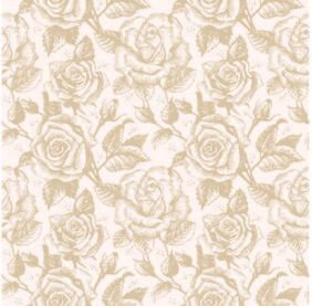 Vintage Seamless Sketchy Rose Pattern