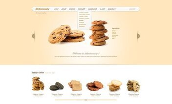 Delecioussary Cookies Free Website PSD Template