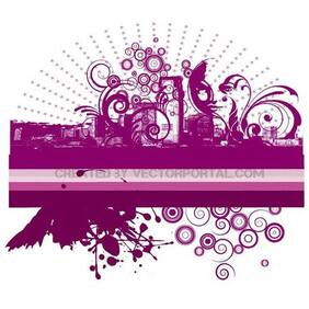 ABSTRACT CITY VECTOR ILLUSTRATION.eps