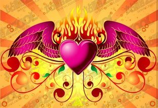 Flame wings of love