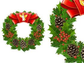 Cool texture Christmas wreath