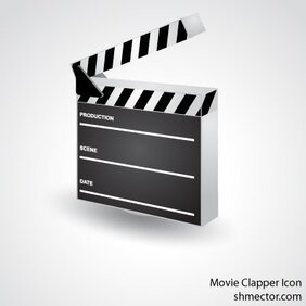 Vector Movie Clapper Icon
