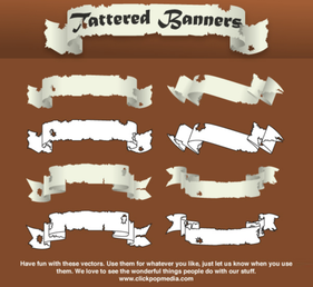 Free Scroll Banner Vector Art