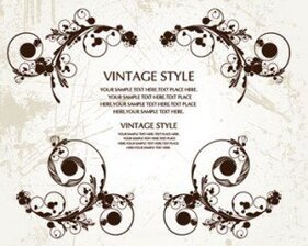 Stock Ilustrations Vintage Style